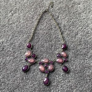 Silver and lilac necklace